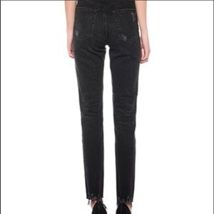 AG Sophia Ankle High Waisted Black Jeans size 29